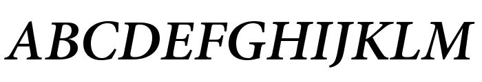 AdobeHebrew-BoldItalic Font UPPERCASE