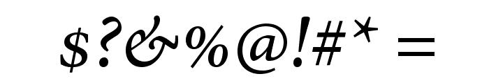 AdobeHebrew-Italic Font OTHER CHARS