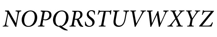 AdobeHebrew-Italic Font UPPERCASE
