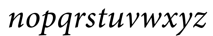 AdobeHebrew-Italic Font LOWERCASE