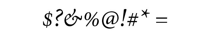 AdobeThai-Italic Font OTHER CHARS