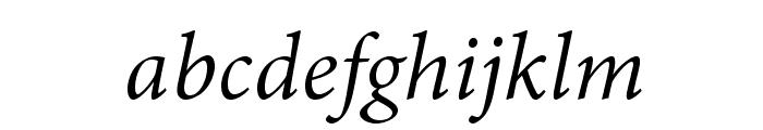 AdobeThai-Italic Font LOWERCASE
