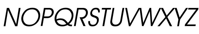 Advantage Book Oblique Font UPPERCASE