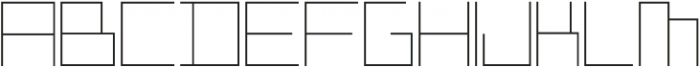ADAPType Hairline otf (100) Font UPPERCASE
