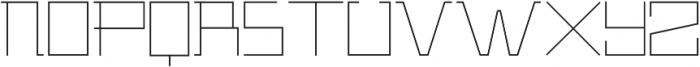 ADAPType Hairline otf (100) Font LOWERCASE