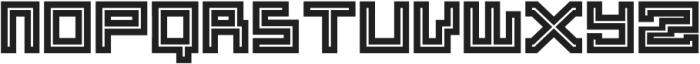 ADAPType Heavy Inline otf (800) Font UPPERCASE