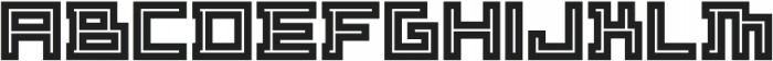 ADAPType Heavy Inline otf (800) Font LOWERCASE