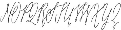 Adalberta monoline pro otf (400) Font UPPERCASE