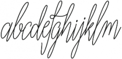 Adalberta monoline pro otf (400) Font LOWERCASE