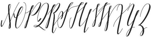 Adalberta otf (400) Font UPPERCASE