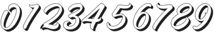 Adamantine shadow  otf (400) Font OTHER CHARS