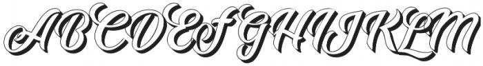 Adamantine shadow  otf (400) Font UPPERCASE