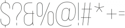 Adderley Thin otf (100) Font OTHER CHARS