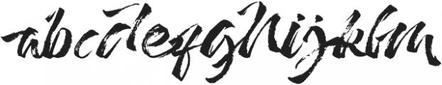 Addictype otf (400) Font LOWERCASE