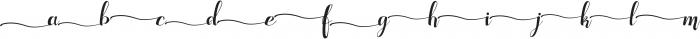 Adefebia Left Swashes otf (400) Font LOWERCASE