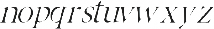 Adelaide italic otf (400) Font LOWERCASE