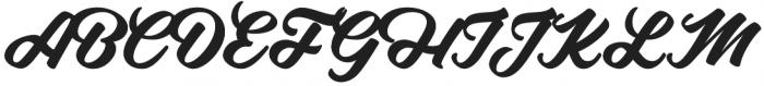 Adelia otf (400) Font UPPERCASE