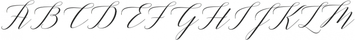 Adelicia Script Clean otf (400) Font UPPERCASE