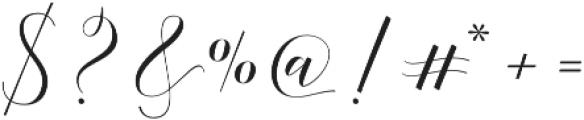 Adelicia Script Slant otf (400) Font OTHER CHARS
