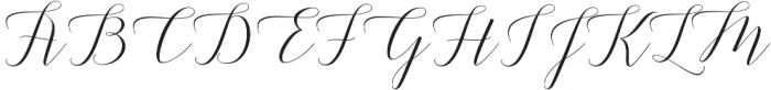 Adelicia Script Slant otf (400) Font UPPERCASE