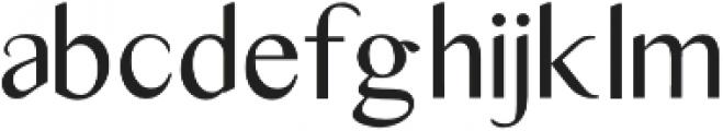 Adeliya otf (400) Font LOWERCASE