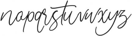 Adelyne otf (400) Font LOWERCASE