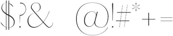 Adenn Thin otf (100) Font OTHER CHARS