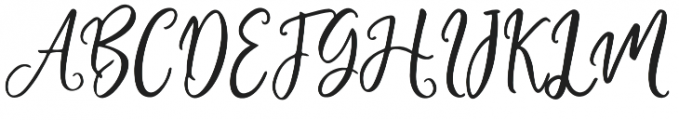 Adheana Script Italic Regular otf (400) Font UPPERCASE