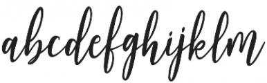 Adheana Script Italic Regular otf (400) Font LOWERCASE