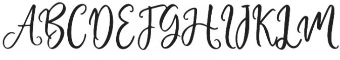 Adheana Script Regular otf (400) Font UPPERCASE
