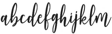 Adheana Script Regular otf (400) Font LOWERCASE