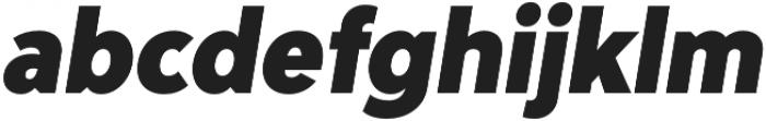 Adlinnaka Condensed Oblique Black otf (900) Font LOWERCASE
