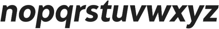Adlinnaka Condensed Oblique Bold otf (700) Font LOWERCASE