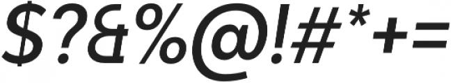 Adlinnaka Condensed Oblique Medium otf (500) Font OTHER CHARS