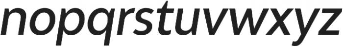 Adlinnaka Condensed Oblique Medium otf (500) Font LOWERCASE