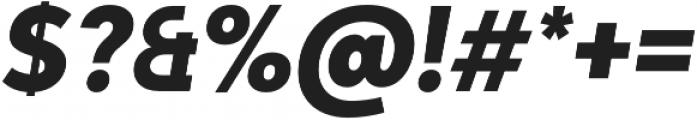 Adlinnaka Condensed Oblique Ultra Bold otf (700) Font OTHER CHARS