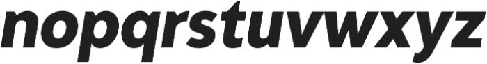 Adlinnaka Condensed Oblique Ultra Bold otf (700) Font LOWERCASE