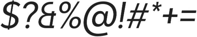 Adlinnaka Condensed Oblique otf (400) Font OTHER CHARS