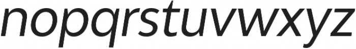 Adlinnaka Condensed Oblique otf (400) Font LOWERCASE