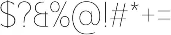 Adlinnaka Condensed Thin ttf (100) Font OTHER CHARS