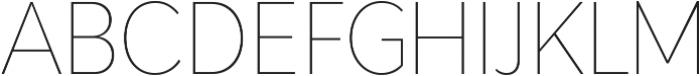 Adlinnaka Condensed Thin ttf (100) Font UPPERCASE