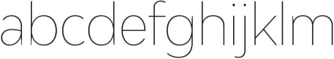 Adlinnaka Condensed Thin ttf (100) Font LOWERCASE