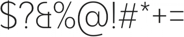 Adlinnaka Condensed Ultra Light ttf (300) Font OTHER CHARS