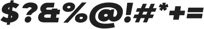 Adlinnaka Expanded Oblique Black otf (900) Font OTHER CHARS