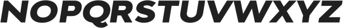 Adlinnaka Expanded Oblique Black otf (900) Font UPPERCASE