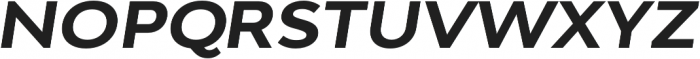 Adlinnaka Expanded Oblique Bold otf (700) Font UPPERCASE