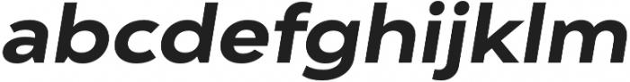 Adlinnaka Expanded Oblique Bold otf (700) Font LOWERCASE