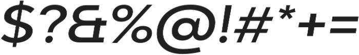 Adlinnaka Expanded Oblique Medium otf (500) Font OTHER CHARS