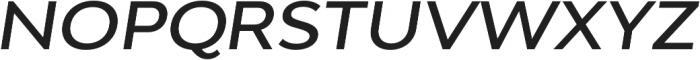 Adlinnaka Expanded Oblique Medium otf (500) Font UPPERCASE