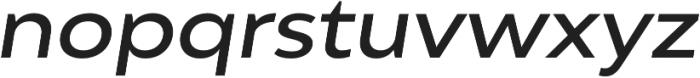 Adlinnaka Expanded Oblique Medium otf (500) Font LOWERCASE